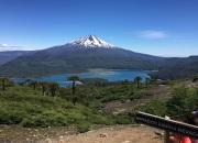 Llaima und Lago Conguillo am Mirador Sierra Nevada
