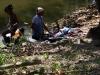 Ausflug ans Meer bei Baracoa, Wäsche waschen am Fluß