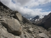Abstieg über das Geröllfeld