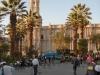 Arequipa, Plaza de Armas, Abendlicht