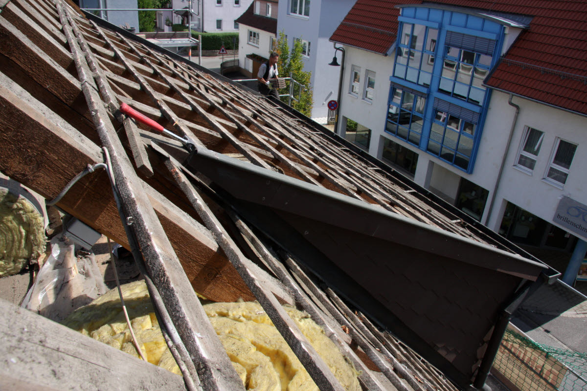 Tag 1 (Mit): Vordere Dachgaube von oben