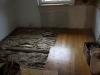 Küche, Parkett-Boden teilweise entfernt
