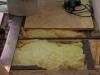 Einbauen einer Trägerplatte als Unterbau, Mineralwolle als Schallisolierung