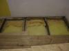 Mineralwolle als Schallisolierung, Filzstreifen auf den Balken zur Schall-Entkopplung