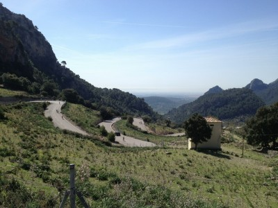 Soller Pass, Serpentinen von Bunyola aus