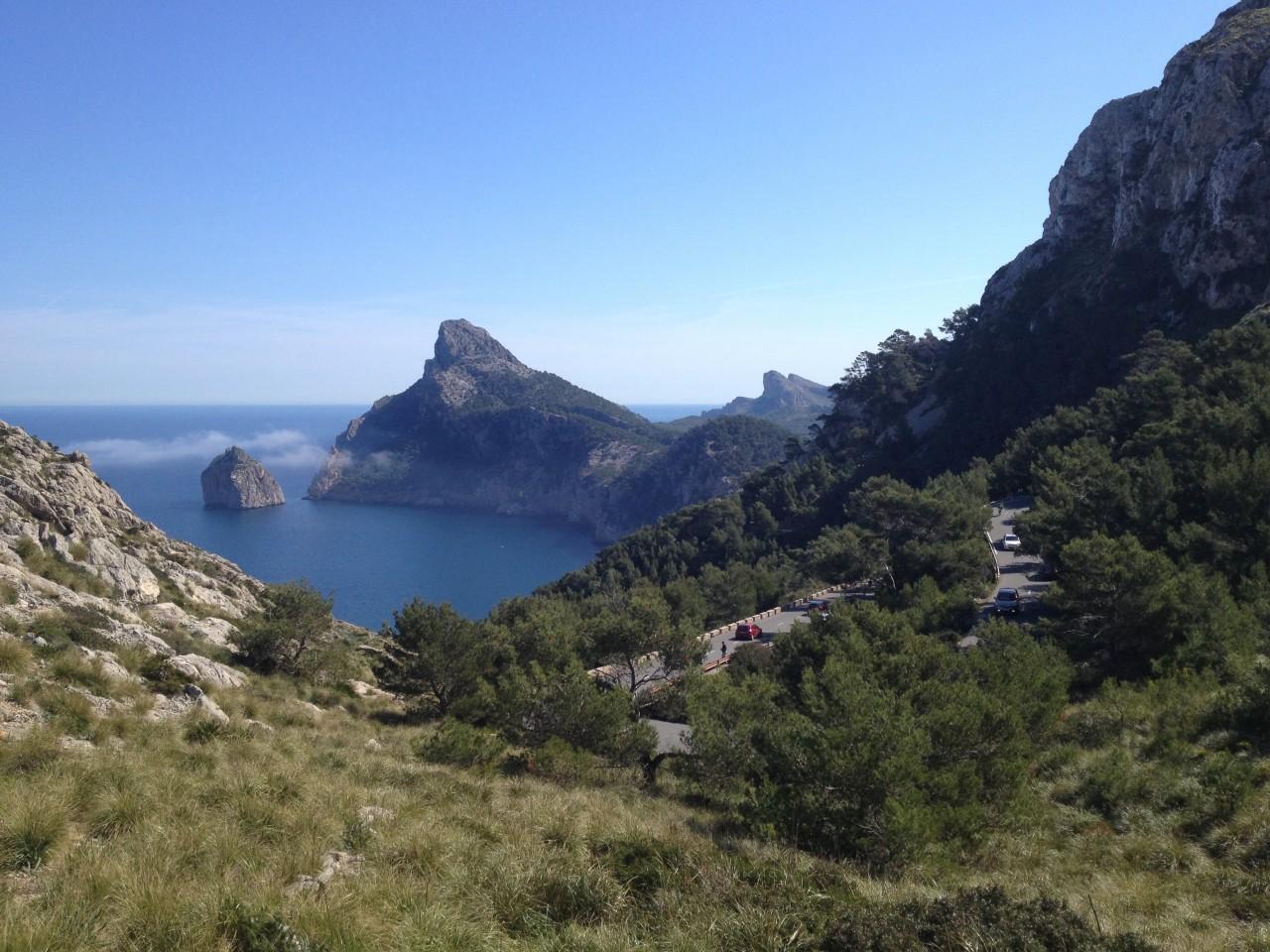 Erste Aussichtsplatform, Blick Richtung Cap Formentor
