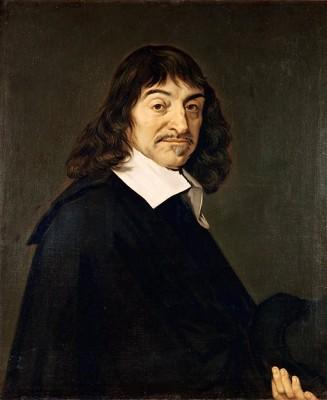 """""""Frans Hals - Portret van René Descartes"""" von nach Frans Hals (1582/1583–1666) - André Hatala [e.a.] (1997) De eeuw van Rembrandt, Bruxelles: Crédit communal de Belgique, ISBN 2-908388-32-4.. Lizenziert unter Gemeinfrei über Wikimedia Commons."""