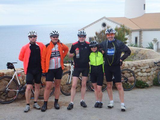 Leuchtturm Cala Rajada: Jürgen, Herbert, Hartmut, Brigitte, Wolfgang
