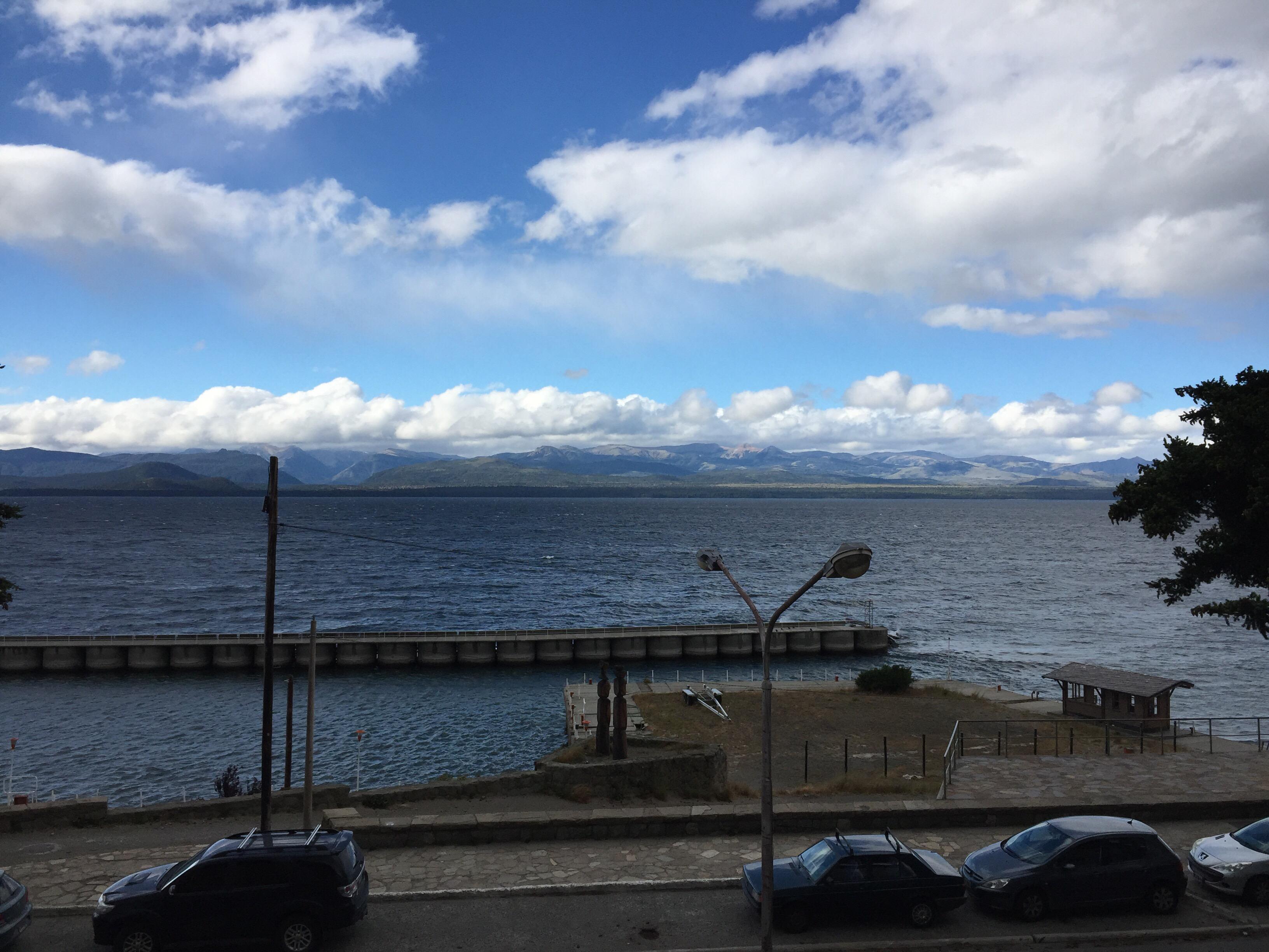 Lago Nahuel Huapi, Bariloche, Blick vom Zimmer Hotel Tres Reyes